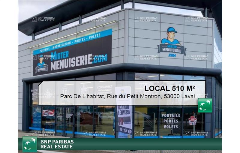 Location Local commercial 510 m² non divisibles 53000 Laval